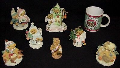 Cherished Teddies Holiday Christmas Lot - All With Original Boxes & Certificates