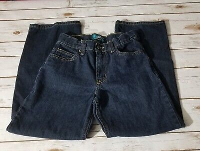 EUC Boys Old Navy Loose Fit Dark Wash Jeans Size 12 #361