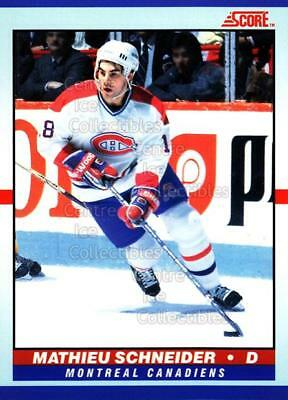 1990-91 Score Young Superstars #18 Mathieu Schneider