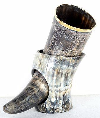 Halloween Natural Medieval Vintage Beer Drinking Christmas Horn with stand cvbv