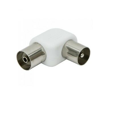 Maxview Coaxial RF Aerial Angle Male To Female Adapter (MD1607)