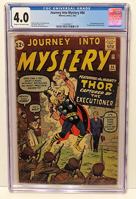 Journey Into Mystery #84 2Nd App Of Thor & 1St App Of Jane Foster 9/62 Cgc 4.0