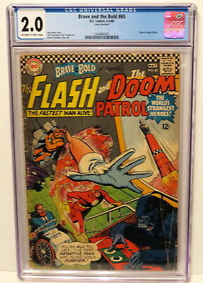 Brave And The Bold #65 Flash & Doom Patrol 4-5/66 Dc Off-White To White Cgc 2.0
