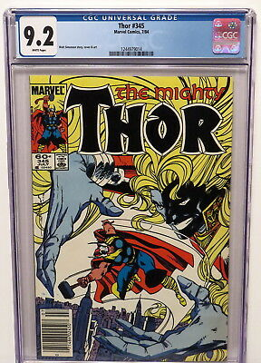 Mighty Thor #345 -Malekith The Accursed Story Line 7/84 White Pages Cgc 9.2