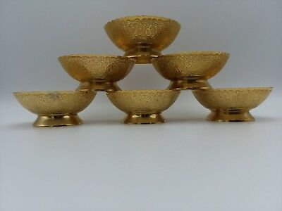 Nice  6 Brass bowls antique very detailed