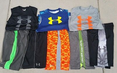BOYS Youth Large LOT of 8 UNDER ARMOUR/NIKE Shorts & Tank Tops Yth Large