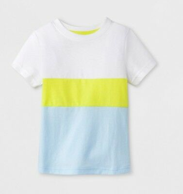 NWT New Toddler Boys Cat & Jack Colorblock Short Sleeve Shirt 3T