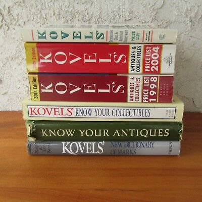 Kovels Collectors Books Price Guides Lot of 5 Antiques Collectibles Glass Dinner