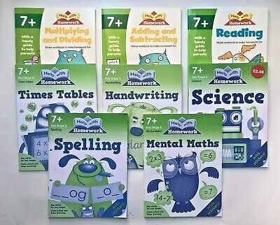 KS1 Help With Home Work Set of 7 Educational Workbooks Ages 7+ Spelling Maths