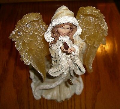 Boyds Charming Angels Felicity Angel of Winter in Box with Charm