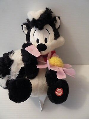 Hallmark Plush Skunk Pepe Le Pew with I Pick You Daisy Flower Animal Toy
