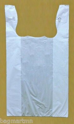 "50 20x10x36 White Jumbo 36"" Large Retail High Density Plastic T-Shirt Bags"