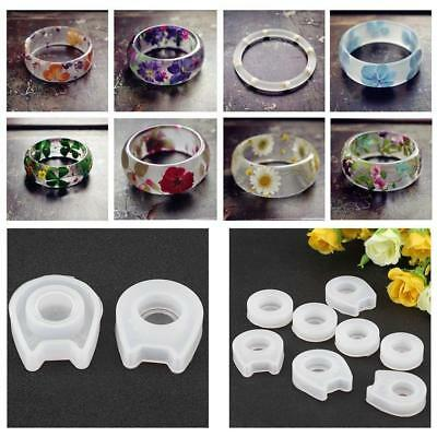 8pcs/set Silicone Ring Mold Making Resin Casting Jewelry Rings Hand DIY Mould