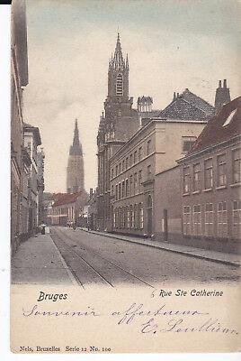 Cpa Bruges Rue Ste Catherine