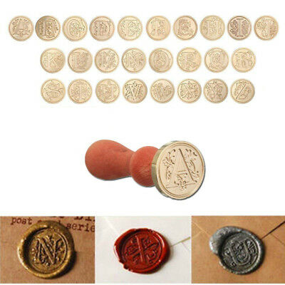 Classic Initial 26 Letters Alphabet Wax Manuscript Seal Logos Envelope Stamp A-Z
