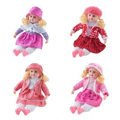 "24"" Lifelike Large Size Soft Bodied Baby Doll Girls Boys Dolly Toy With Sounds"