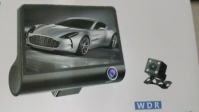 Video Camera For Car Dash Cam Full Hd 1080 P Cardvr Wdr 3 Lenses Night Vision