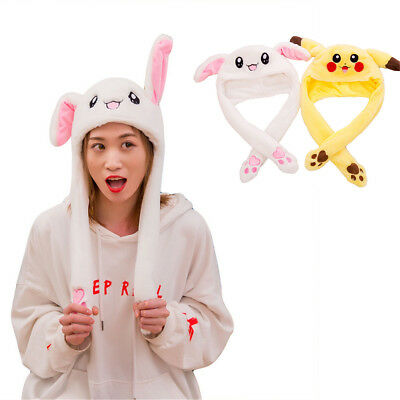 Cute Rabbit Hat Ear Will Move When You Hold The Leg Funny Plush Hat Chic Hot NEW