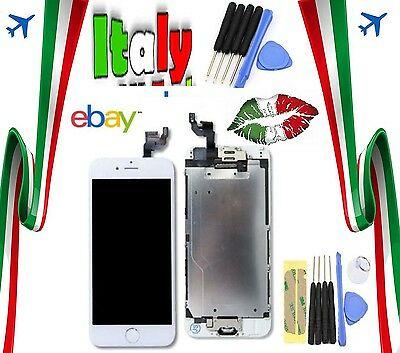 Touch Apple Iphone 6 Vetro Display Lcd Schermo Frame Assemblato Completo Bianco