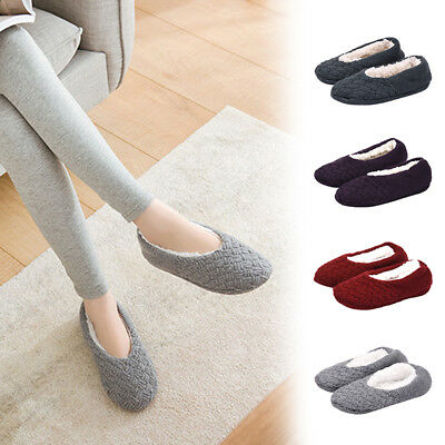 Women Cotton Winter Slippers Flip Flop Cute Home Floor Soft Warm Shoes
