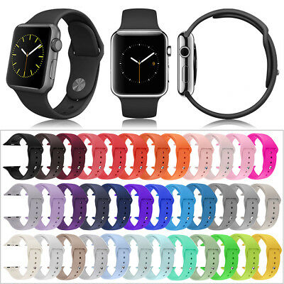 Silicone Replacement Wrist Sport Band Strap For Apple iWatch Series 4 38mm 42mm