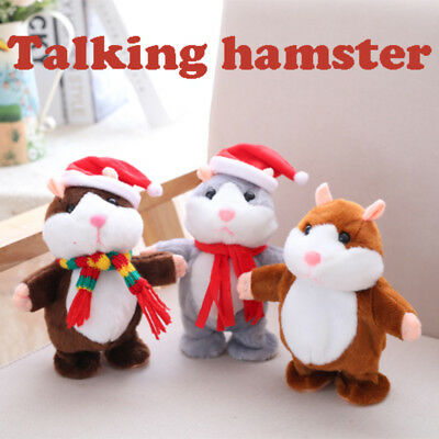 AU Cute Cheeky Hamster Talking Mouse Pet Christmas Toys Speak Sound Record Gifts