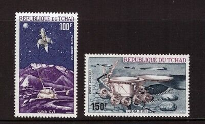 Chad MNH 1972 Space, Russian Moon Exploration set mint stamps