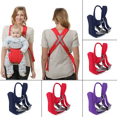 Classic Baby Carrier Front & Back Carry Adjustable Wrap Sling Straps Breathable