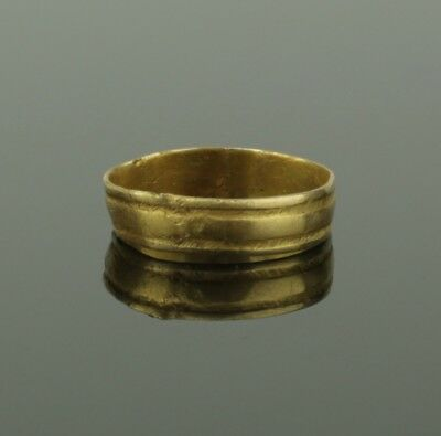 ANCIENT MEDIEVAL GOLD RING - CIRCA 14th/15th Century AD