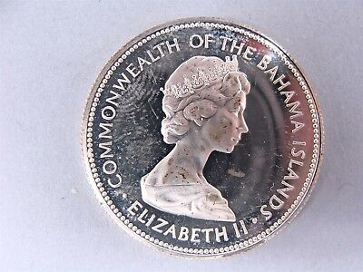 1971 Commonwealth Of The Bahama Islands Elizabeth II Fine Silver Coin Fifty Cent