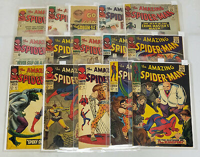 Amazing Spider-Man Silver Age Comic Book Lot #'s From 10-108 40+ Issues