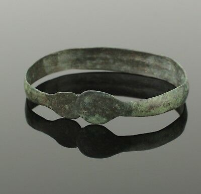 Fabulous Ancient Celtic Bronze Bracelet - Circa 50 Bc