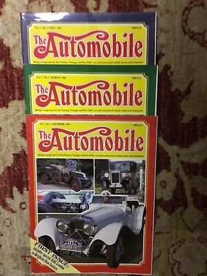 THE AUTOMOBILE MAGAZINES -  Nos 1 - 2 and 3 Vol 1 FROM 1983