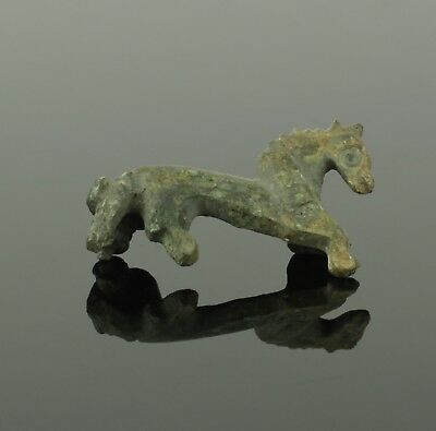 Ancient Roman Bronze Zoomorphic Brooch  Horse - Circa 2Nd Century Ad