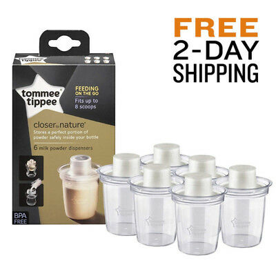 Safe Baby Milk Powder Dispensers Tommee Tippee Bottle Container Travel New Born
