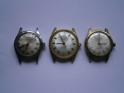 Job lot of vintage gents CARAVELLE watches mechanical watches spares or repair