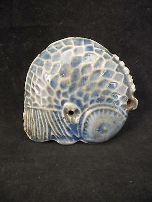 Early Blue Glaze Chinese Fish Form Water Dropper