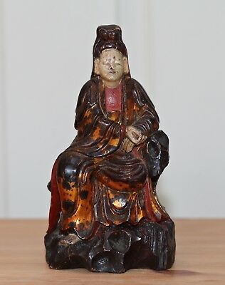 Antique Chinese rare carved statue of guanyin, Scholars item, 18th century, QING