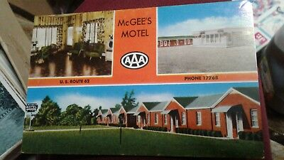 Vintage Postcard Mcgees Motel Alliance  Ohio