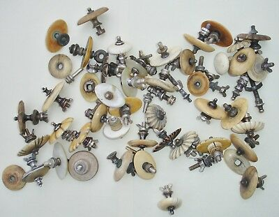Large Job lot of antique finials or knops for tea/coffee pot caddy etc