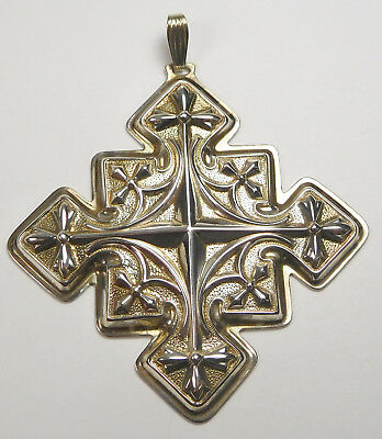 Vintage Reed & Barton Sterling Silver 1979 Christmas Cross Ornament With Box