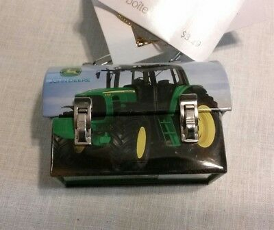 NWT Collectible John Deere Tractor Mini Carry-all Lunch Box Christmas Ornament
