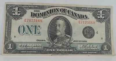 1923 - Dominion of Canada - $1 Large Note - Nice Condition - #757L