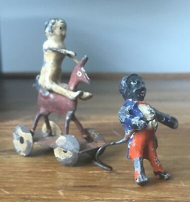 Old Cold Painted Iron Black Americana Florence Upton Character & Doll Figure 2