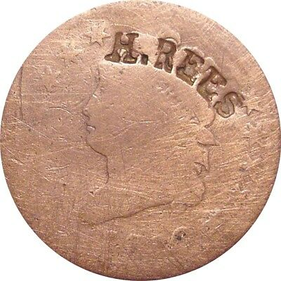 1810 Classic Cent--AG/Good--H. REES Counterstamp