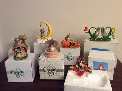 Charming Tails Figurines and Ornament-Lot of 7 New In Box