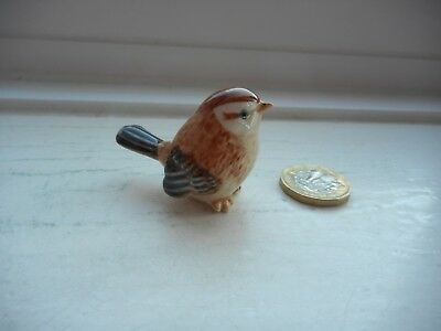 Sparrow - Pottery - Cute, Collectable, Detailed  Miniature Brown Sparrow