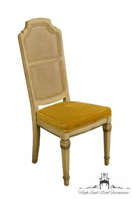 STANLEY FURNITURE French Provincial Antique White Cane Back Dining Side Chair...