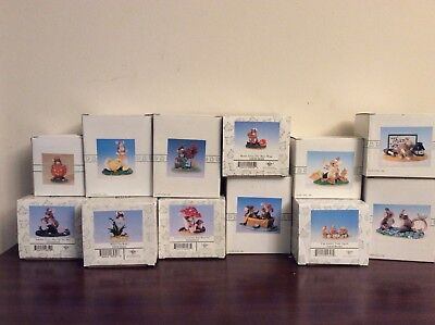 Charming Tails 12 Different Figurines New In Orginal Boxes