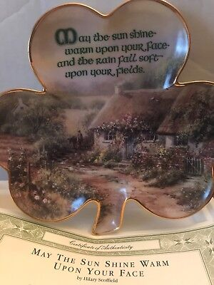 VINTAGE FRANKLIN MINT IRISH BLESSING PLATE, MINT CONDITION, CofAUTHENTICITY